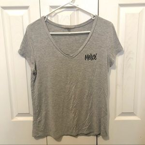Pre-Owned Francesca's Women's Embroidered T-Shirt
